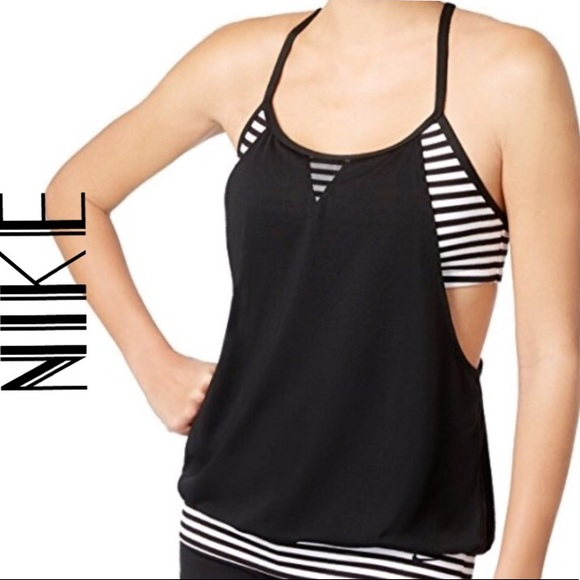 88aab19ef0a97 Nike Swim   Womens Laser Stripe Layered Tankini Top   Poshmark